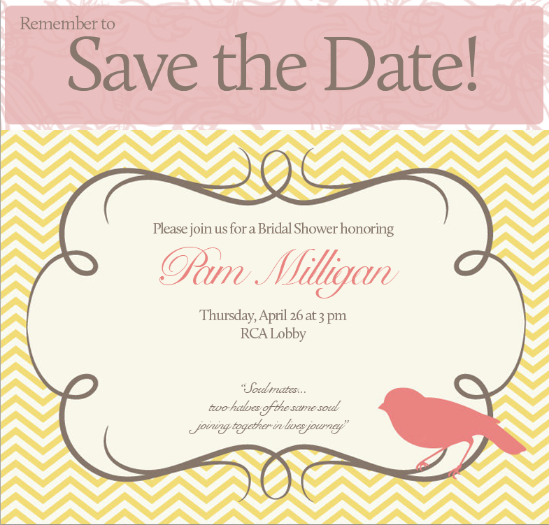 Pam S Bridal Shower Save The Date Bhansondesigns
